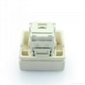 埋入式工业用5类超5类6类8芯网络插座(WF-9.1TE4NTS-W)