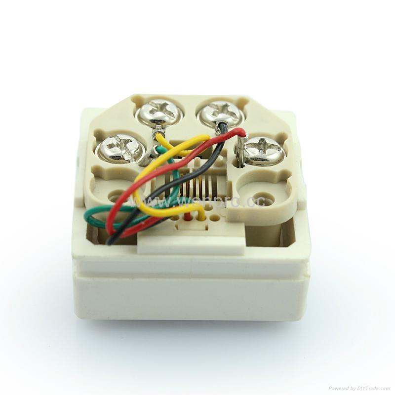 埋入式工业用2芯4芯6芯电话插座(WF-9.1TE1/TE2/TE3-W) 5