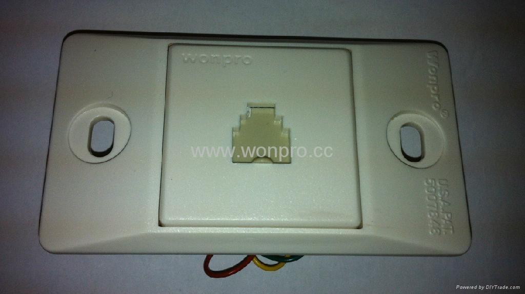 埋入式工业用2芯4芯6芯电话插座(WF-9.1TE1/TE2/TE3-W) 1