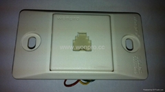 埋入式工業用2芯4芯6芯電話插座(WF-9.1TE1/TE2/TE3-W)