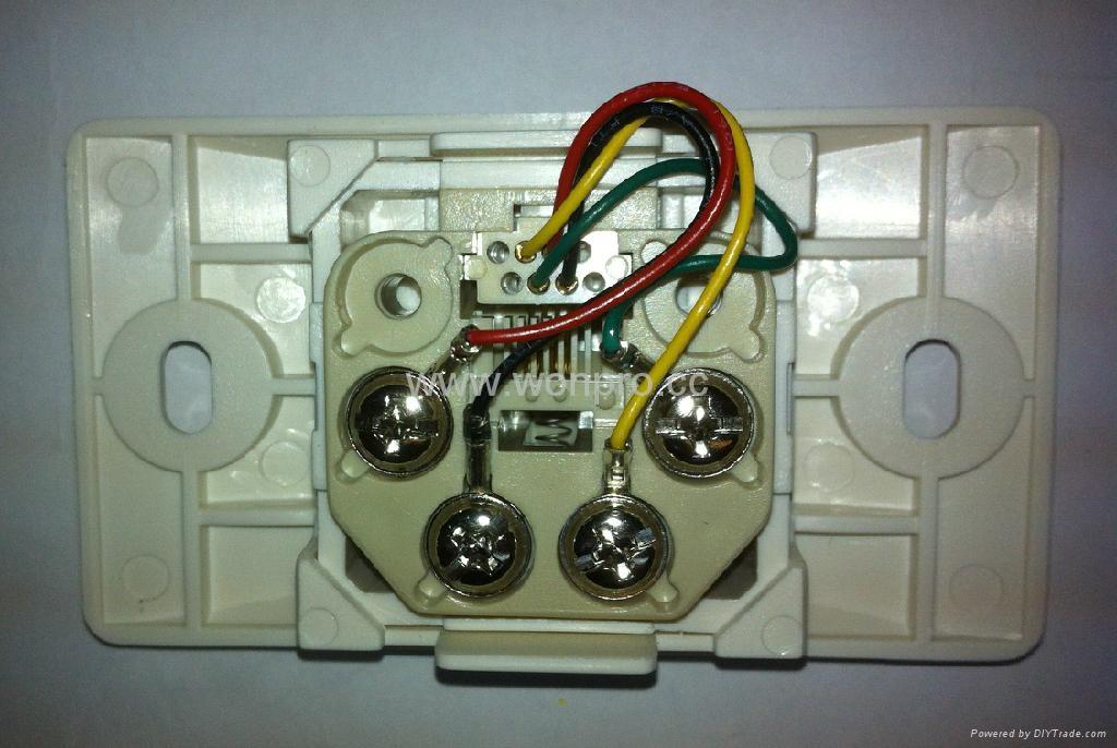 埋入式工业用2芯4芯6芯电话插座(WF-9.1TE1/TE2/TE3-W) 2