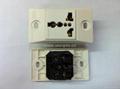 埋入式工业用只适用220V插头一位万用插座(WF-9.1RU4T-W 16A) 3