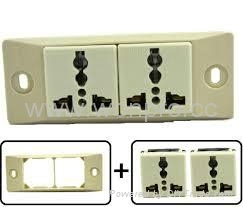 埋入式二位工业万用插座(WF-9.R4-W) 2