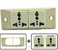 埋入式二位工业万用插座(WF-9.R4-W)