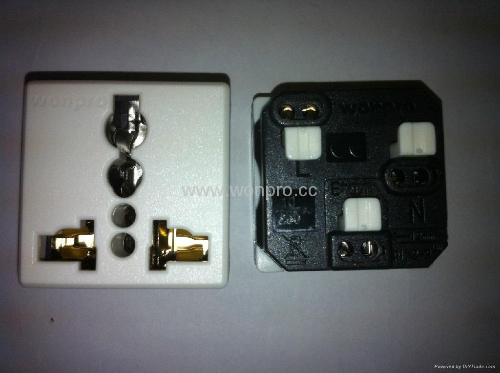 埋入式二位工业万用插座(WF-9.R4-W) 5