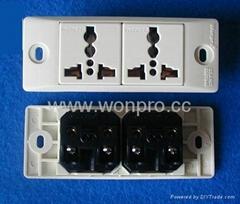 埋入式二位工业万用插座带锁线螺丝(WF-9.R4T-W 16