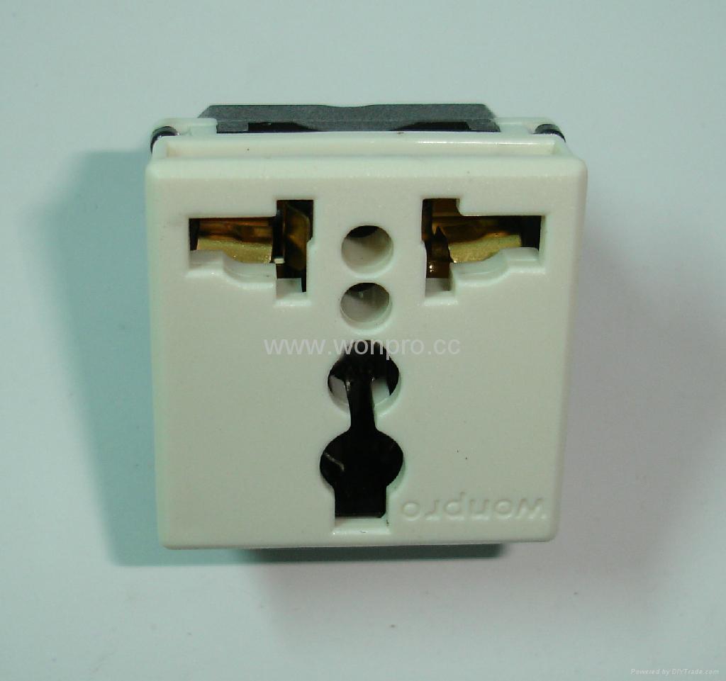 埋入式二位工业万用插座带锁线螺丝(WF-9.R4T-W 16A) 3
