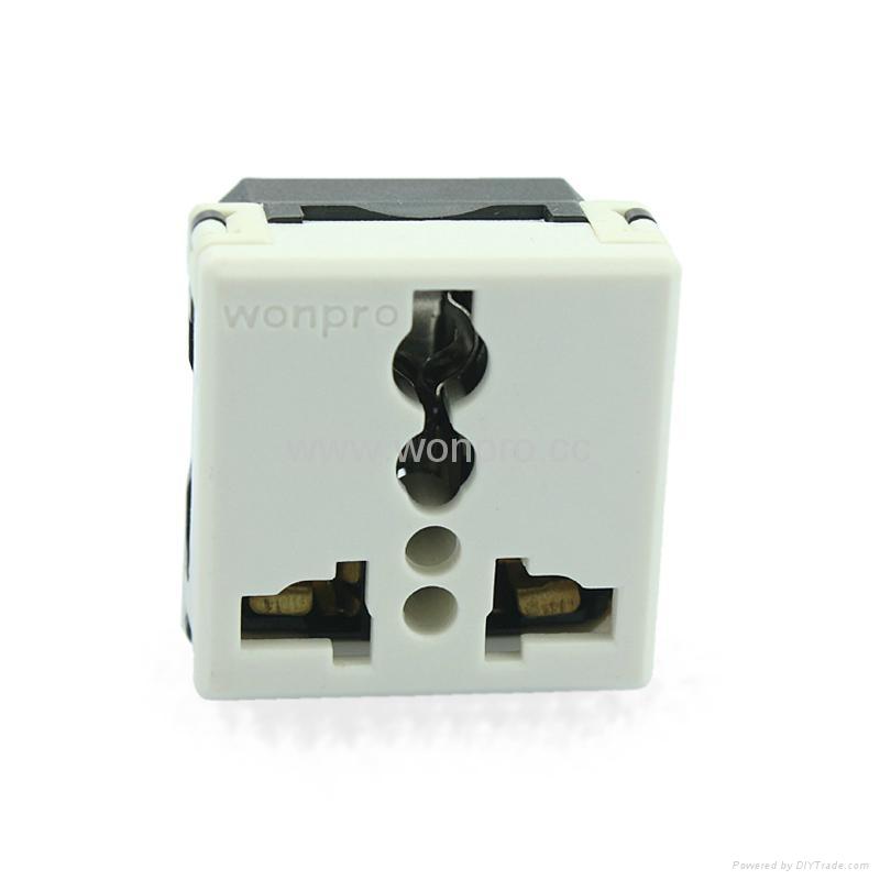 埋入式二位工业万用插座带锁线螺丝(WF-9.R4T-W 16A) 4