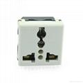 埋入式工业用一位单控开关一位万用插座带锁线螺丝(WF-9.S1C.R4T-W 16A)