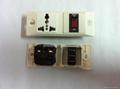 埋入式工业用一位CBS断路开关+一位万用多用途插座(WF-9II.CBS.R4T-W)