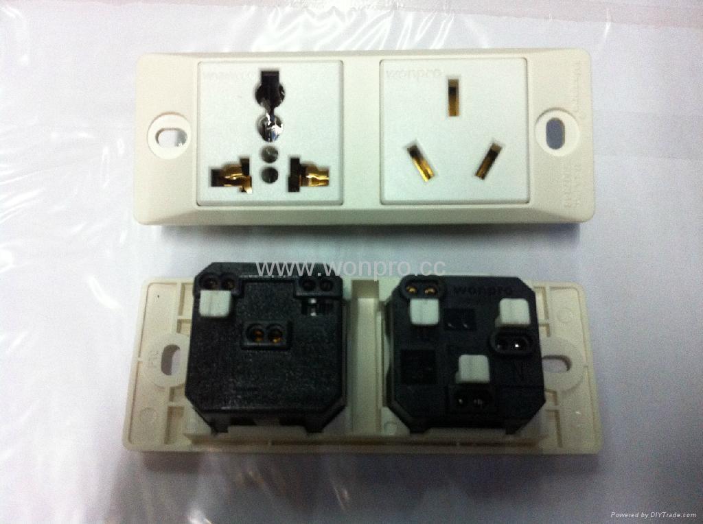 埋入式工业万用插座英式插座(WF-9II.R4.R7-W) 2