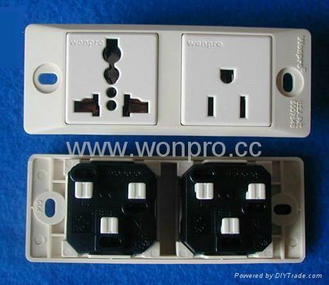 埋入式工业万用插座英式插座(WF-9II.R4.R7-W) 4