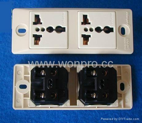 埋入式工业万用插座英式插座(WF-9II.R4.R7-W) 5