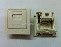 英卡入式工業用5類 超5類 6類8芯網絡插座(BSF-TE4NTS-W)