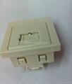 英卡入式工业用5类 超5类 6类8芯网络插座(BSF-TE4NTS-W)