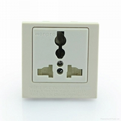 Inlay Way Industrial Universal Socket with safety shutter 2P+E(BSF-R4S-W 10A)