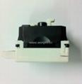英卡入式工业用一位万用插座带保护门2P+E(BSF-R4S-W 10A白色门) 4