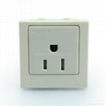 Inlay Way 1 gang Industrial USA Socket 2P+E(BSF-R5A-W 10/15A)
