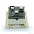 英卡入式工业用一位美标插座2P+E(BSF-R5A-W 10/15A)