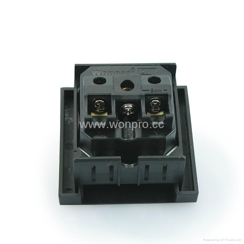 英卡入式工业用一位万用插座黑色(BSF-R4T-BK 16A) 2