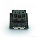 英卡入式一位万用插座带安全门黑色(BSF-R4TS-BK 橘色门)