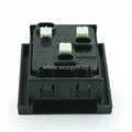 英卡入式一位万用插座黑色2P+E(BSF-R4-BK 10A)