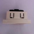 英卡入式一位英标插座带锁线螺丝2P+E(BSF-R7T-W 16A)