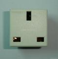 英卡入式工业用一位英标插座2P+E(BSF-R7-W 13A) 3