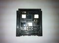 英卡入式工业用一位万用插座带保护门黑色2P+E(BSF-R4S-BK 白色门 10A)