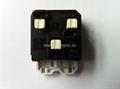 英卡入式工业用一位万用插座带保护门黑色2P+E(BSF-R4S-BK 10A 橘黄门) 5