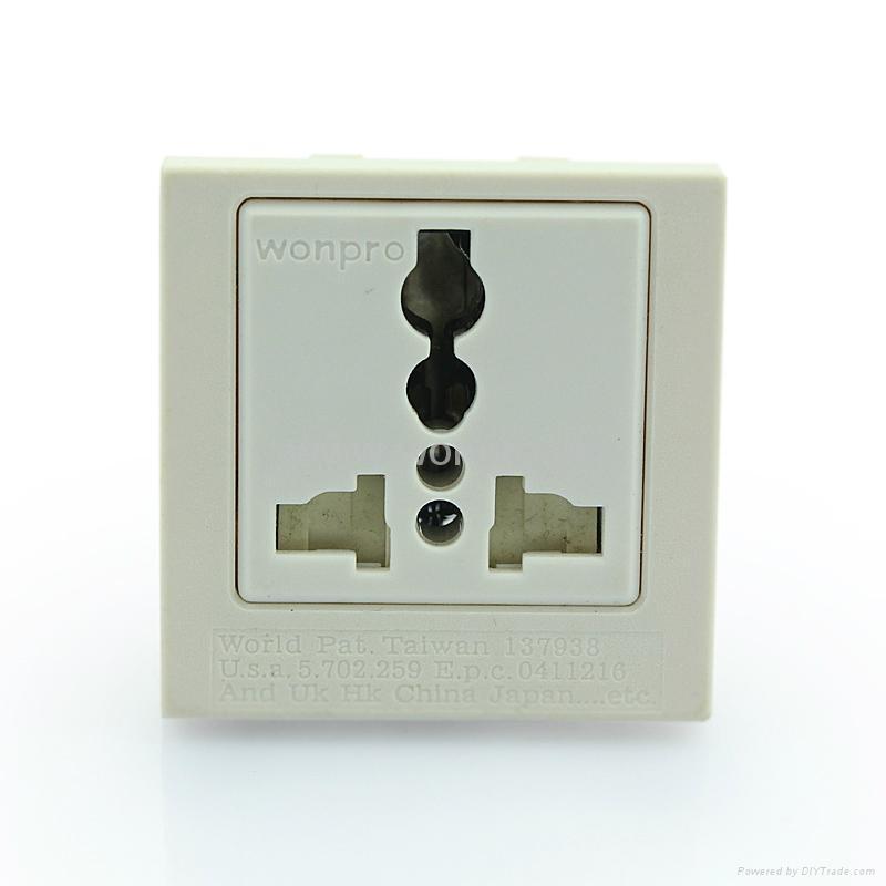 Inlay Way Industrial Universal Socket w/shutter & screw 2P+E(BSF-R4TS-W 16/20A) 1