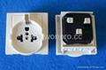 英卡入式工业用一位多用插座带2P+E(BSF-R16-W 10A白色门)