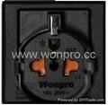 Inlay Way Euro multi-socket w/screw in black(BSF-RGFTS-BK ect.)   1