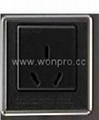 Inlay Way Euro multi-socket w/screw in black(BSF-RGFTS-BK ect.)   2