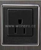 Inlay Way Euro multi-socket w/screw in black(BSF-RGFTS-BK ect.)   3