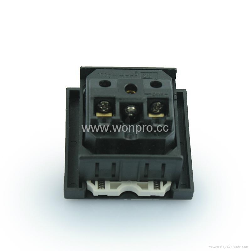 Inlay Way Euro multi-socket w/screw in black(BSF-RGFTS-BK ect.)   5