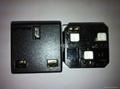 英标插座黑色2P+E(R7-BK) 3