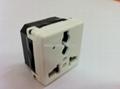 万用多用途插座模块带电源指示灯2P+E(R4V-W)