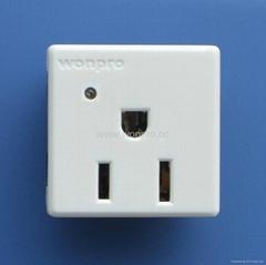 二极带接地美标/国标/欧标插座带电源指示灯10A-16A25