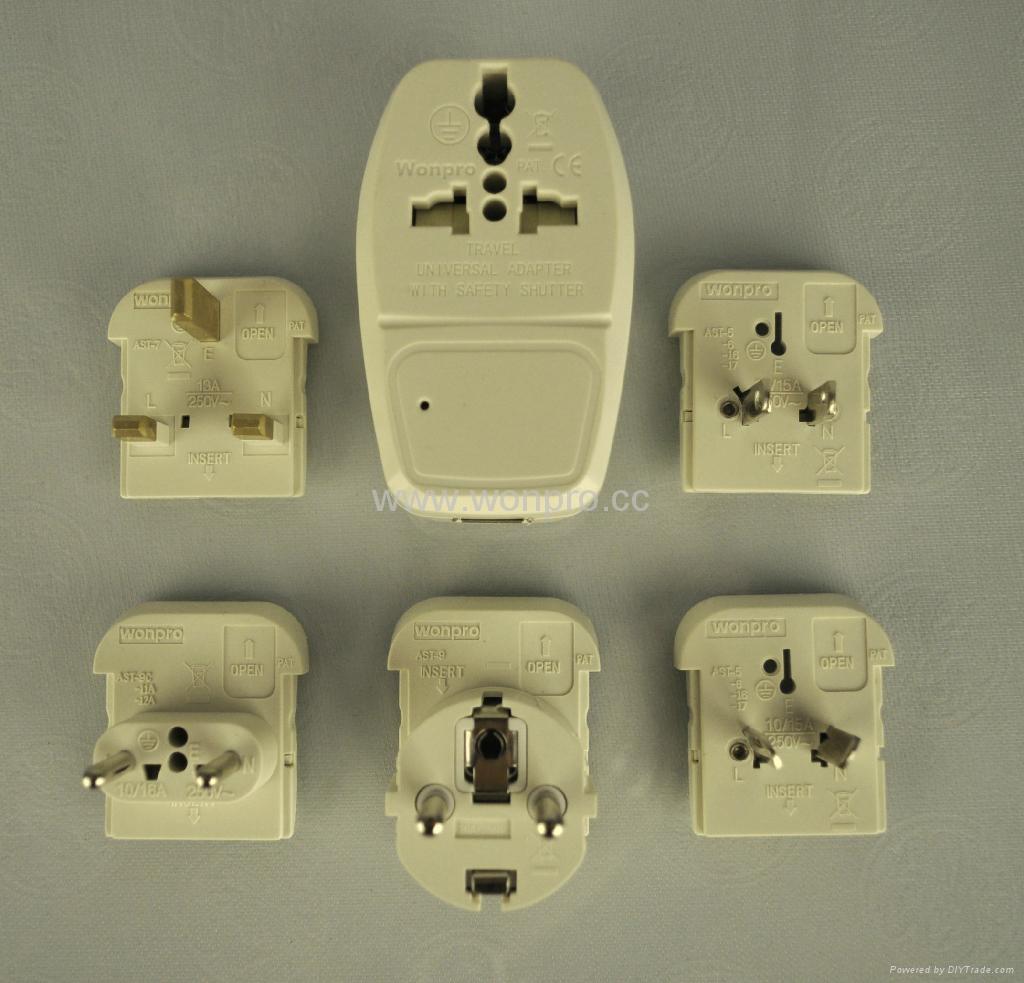 全球通旅游转换器组带USB充电(ASTDBU-SB) 3