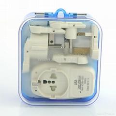 欧洲通旅游转换器组带USB充电(ASTGFDBU-SBvs)