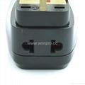 英式带保险丝旅游转换器带USB充电(WASDBUvs-7F-BK)