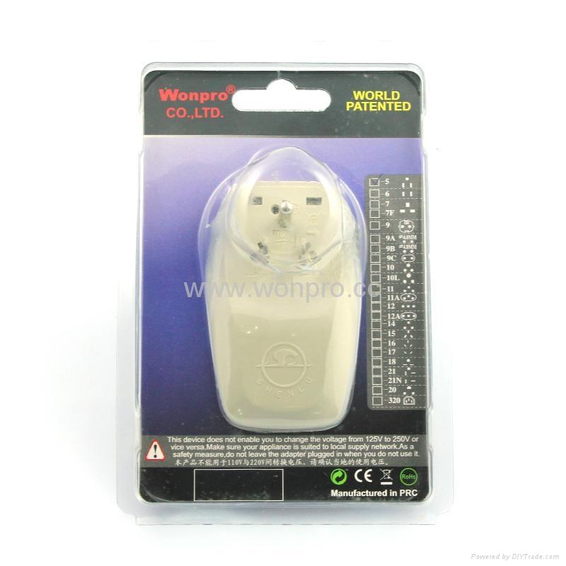 美日式旅游转换器带USB充电(WASDBU-5-W) 2
