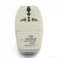 American Japan type Universal Travel Adapter with USB charger(WASDBU-5-W)  3