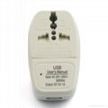 美日式旅游转换器带USB充电(WASDBU-5-W)