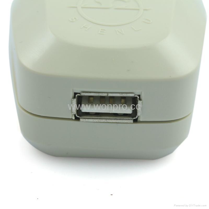American Japan type Universal Travel Adapter with USB charger(WASDBU-5-W)  4