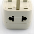 UK, Iraq Grounded Universal Travel Adapter with USB charger(WASDBU-7-W)