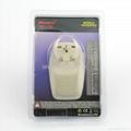 中国,澳洲式旅游转换器带USB充电(WASDBU-16-W)
