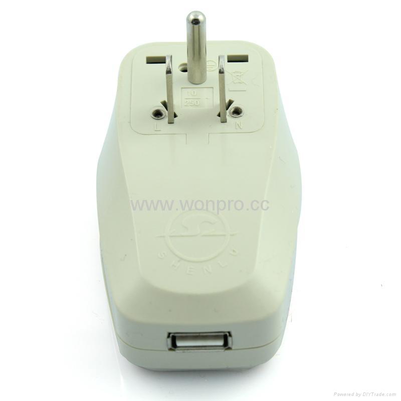 美日式旅游转换器带USB充电(WASGFDBUvs-5-W) 2