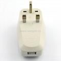 英式旅游转换器带USB充电(W